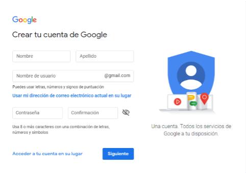crear cuenta gmail sin teléfono