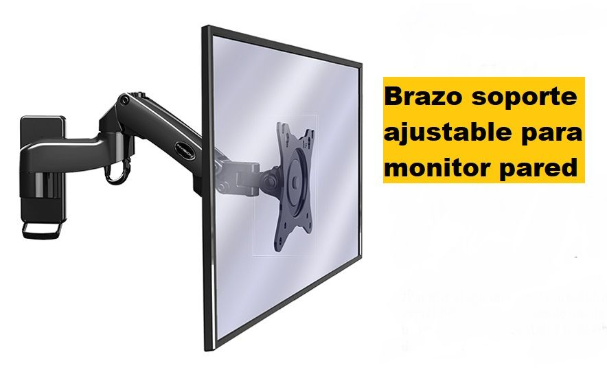 Brazo soporte ajustable para monitor pared